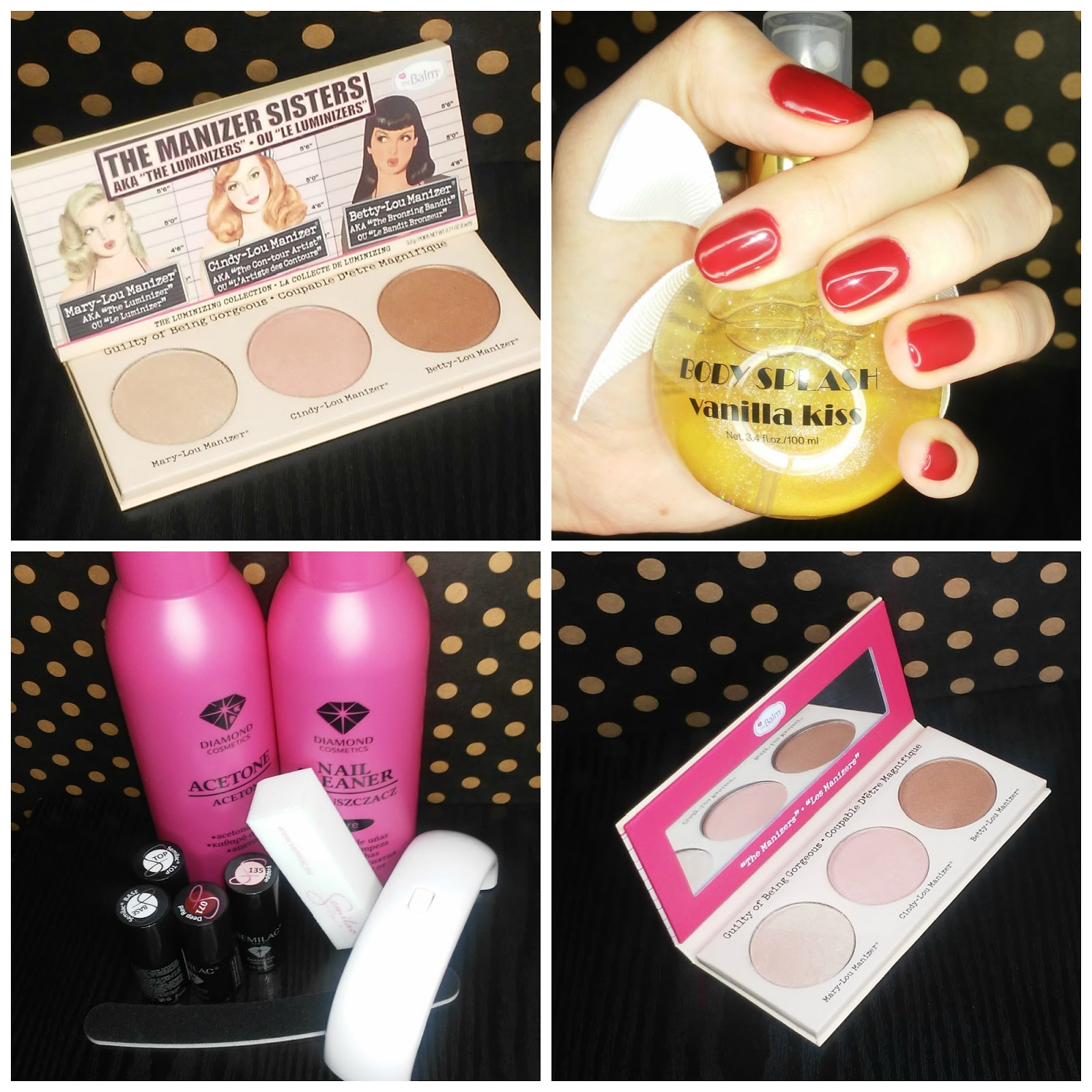 MANICURE HYBRYDOWY SEMILAC + THE BALM THE MANIZER SISTERS