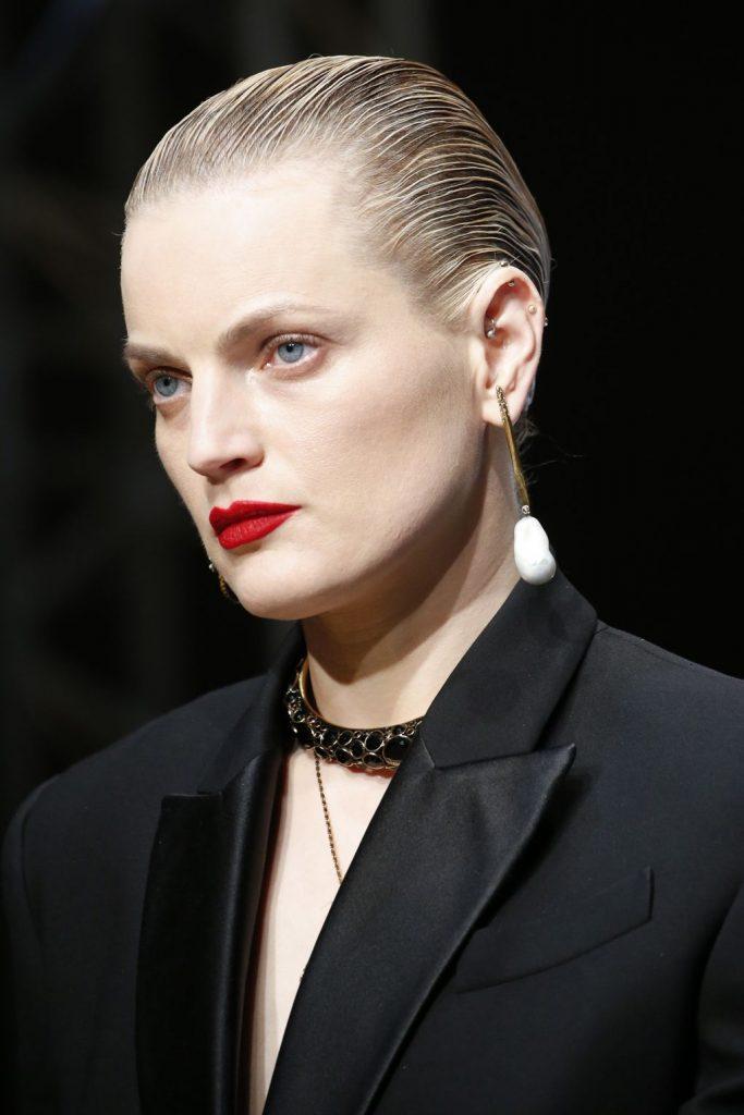 Alexander McQueen makeup red lipstick