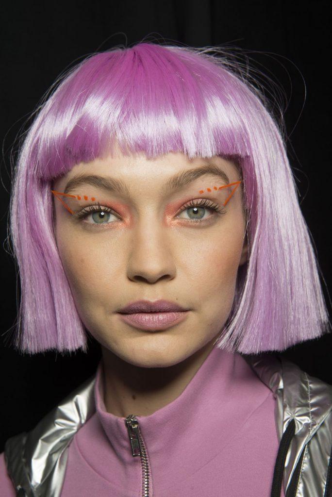 Jeremy Scott Kabuki makeup neon