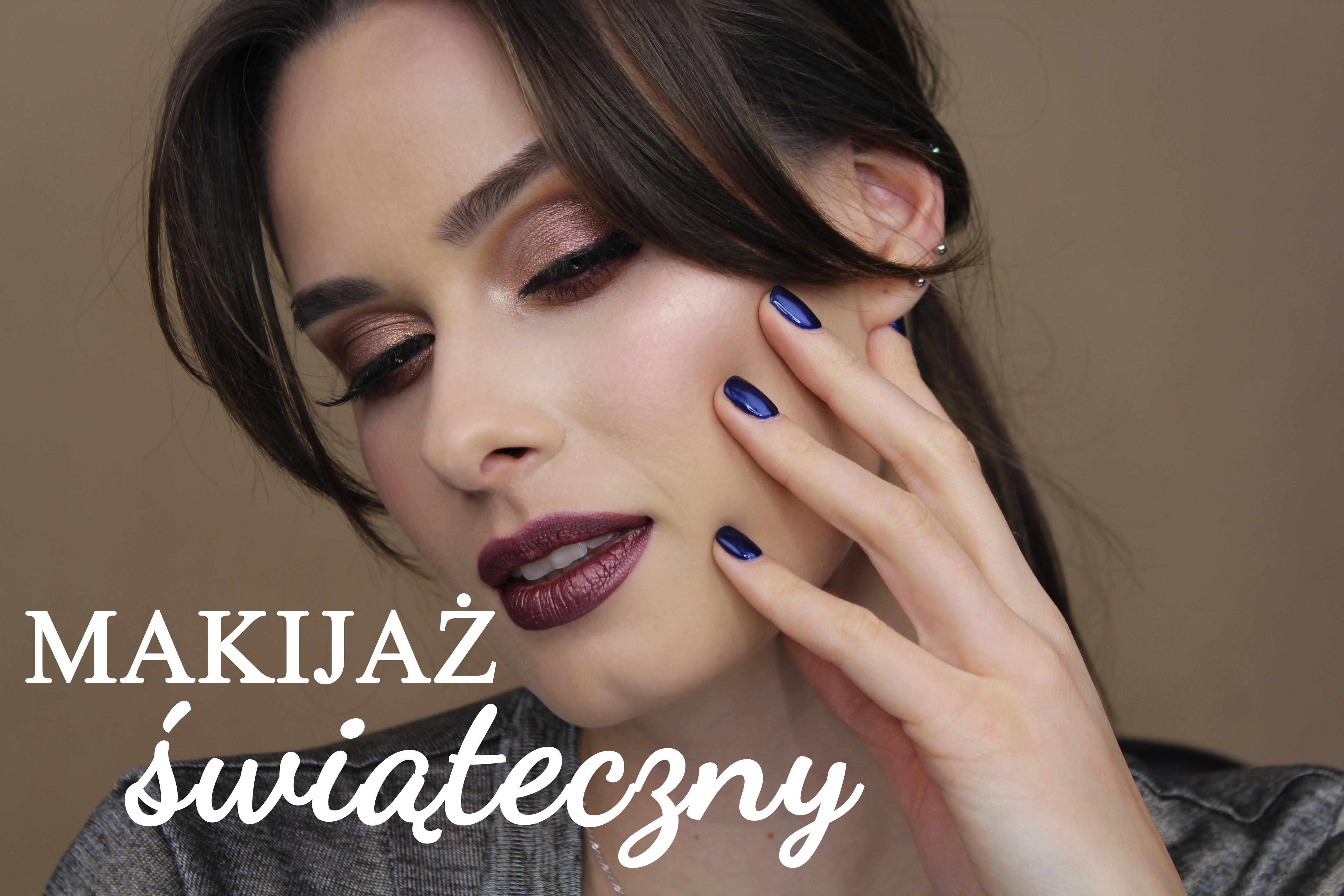 makijaż świąteczny makijaż na święta xmas makeup holiday makeup tutorial