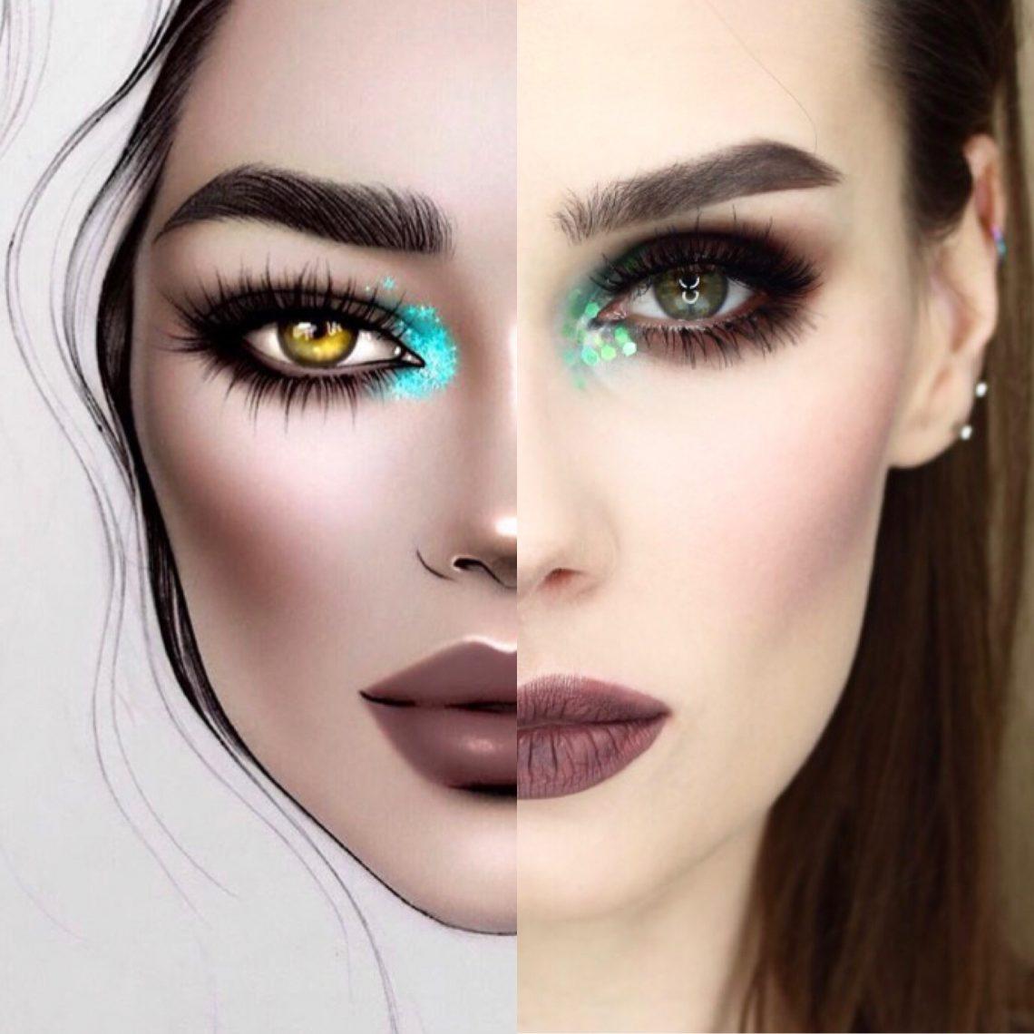 facechart by @milk1422 makijaż inspirowany inspired makeup look