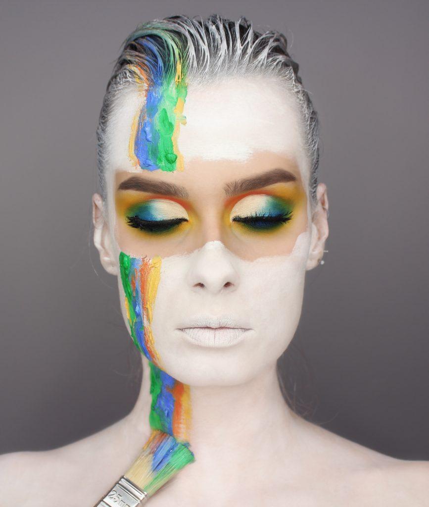 Zmalowana - makijaż inspirowany, artystyczny, kolorowy makijaż facepainting