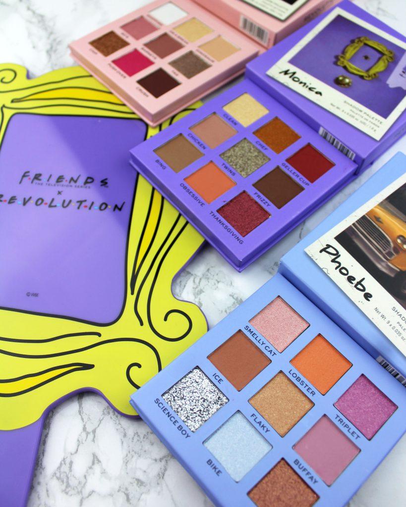Makeup Revolution x Friends - palety cieni:Monica, Phoebe i Rachel
